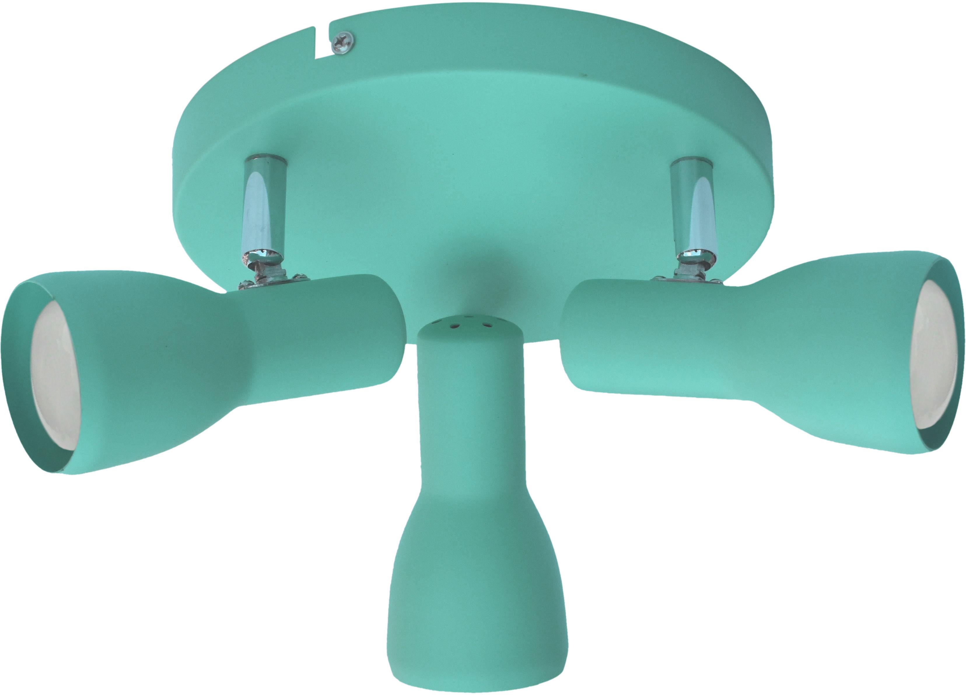Candellux PICARDO 98-50601 plafon lampa sufitowa miętowa stalowy klosz 3X40W E14 29cm