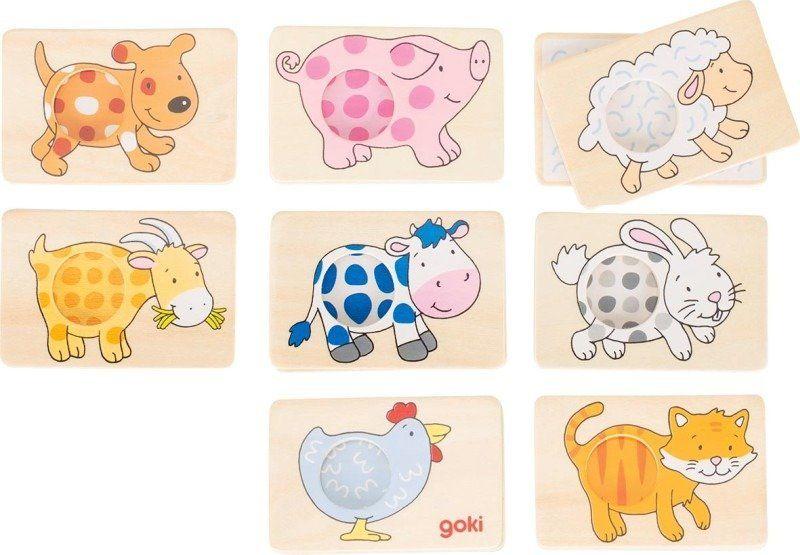 Memo Wzór dla zwierzątka 56818-Goki, gry pamięciowe