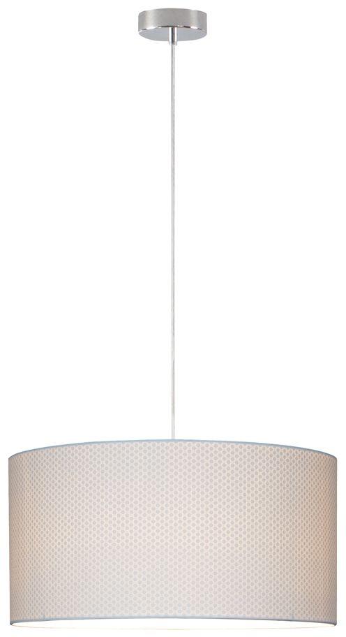 Spot Light 3564028 Leila lampa wisząca metalowa chrom/transparentny klosz papier biały (kropki) 1xE27 60W 50cm