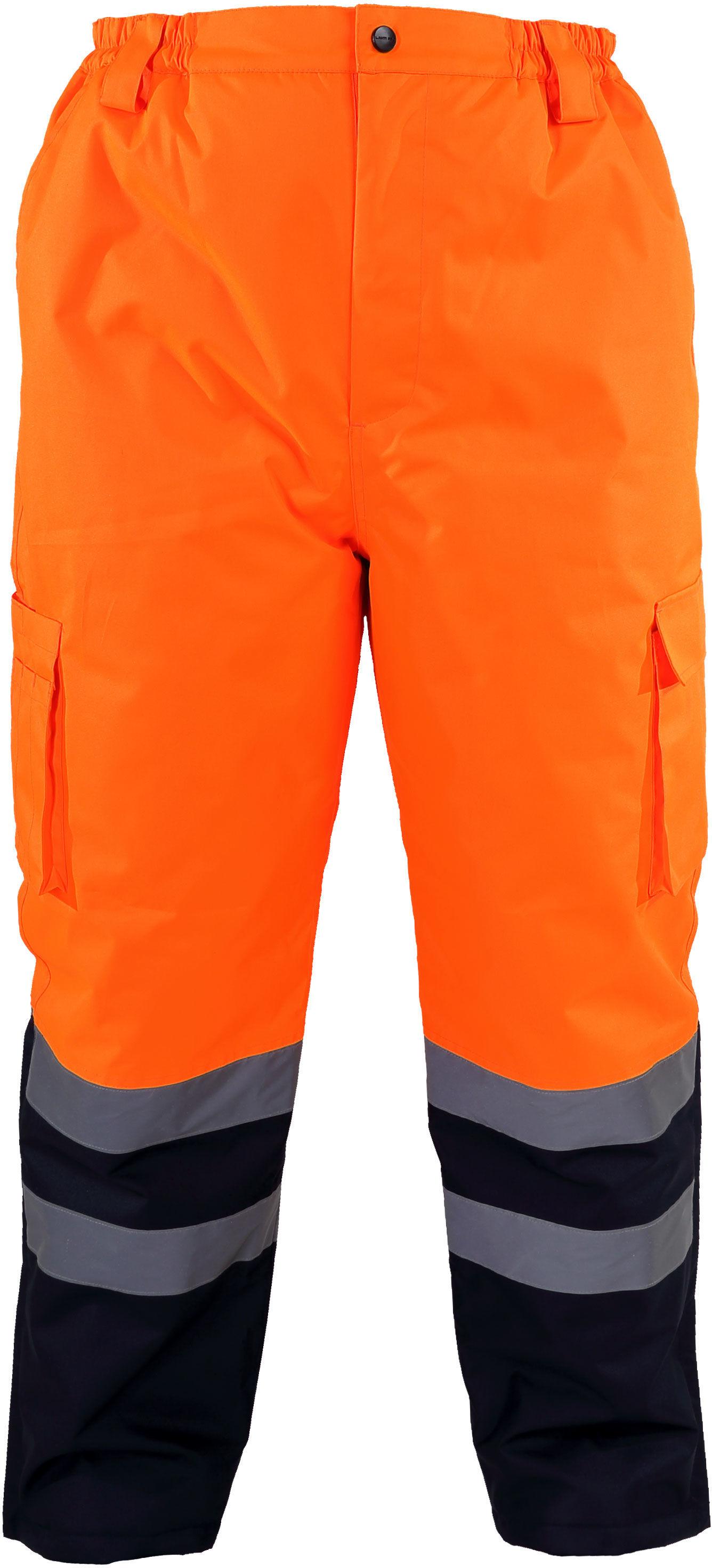 """Spodnie ostrzegawcze ociep., pomarańczowe, """"l"""", ce, lahti"""