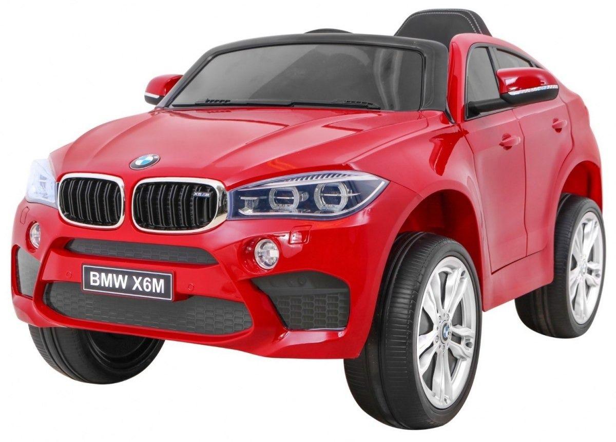 Samochód na akumulator bmw x6m czerwony lakier metalik