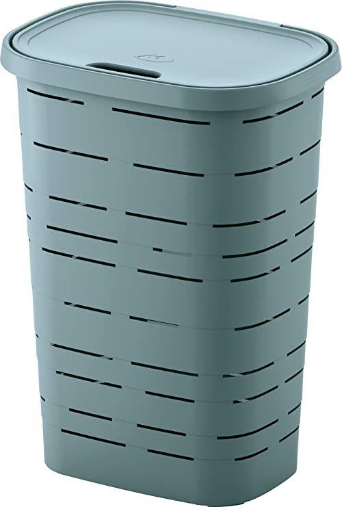 M-Home PLS6047V-172 kosz na pranie, tworzywo sztuczne, błękitny, 45 x 33 x 60 cm (55 l)