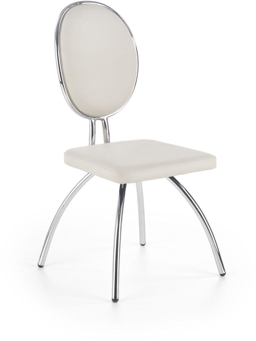 Krzesło K297 jasny popiel / chrom Halmar (Charaziak Design)