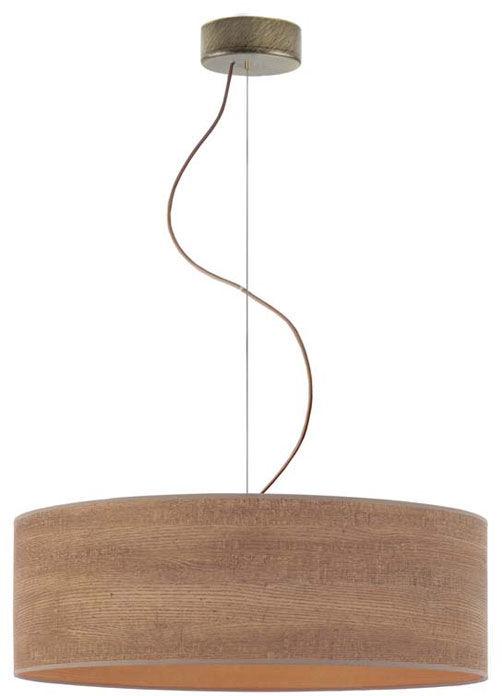 Żyrandol w stylu eko z abażurem 50 cm - EX851-Hajfes - wybór kolorów