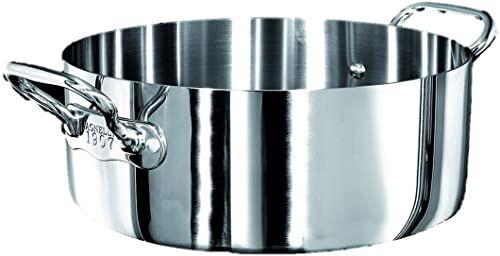 Pentole Agnelli Rondel z 2 uchwytami, aluminiowy głębokość 28 cm stal