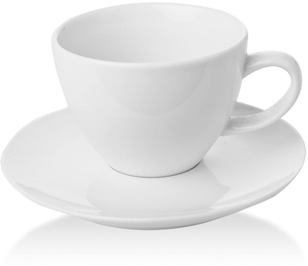 Filiżanka elegancka espresso ze spodkiem porcelanowa BIANCO