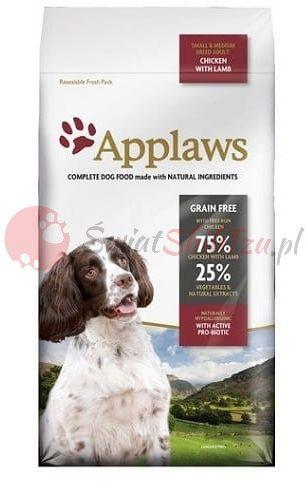Applaws Adult Dog Small & Medium Breed Kurczak z jagnięciną 7,5kg