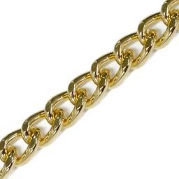 Łańcuszek 8mm złoty szlifowany
