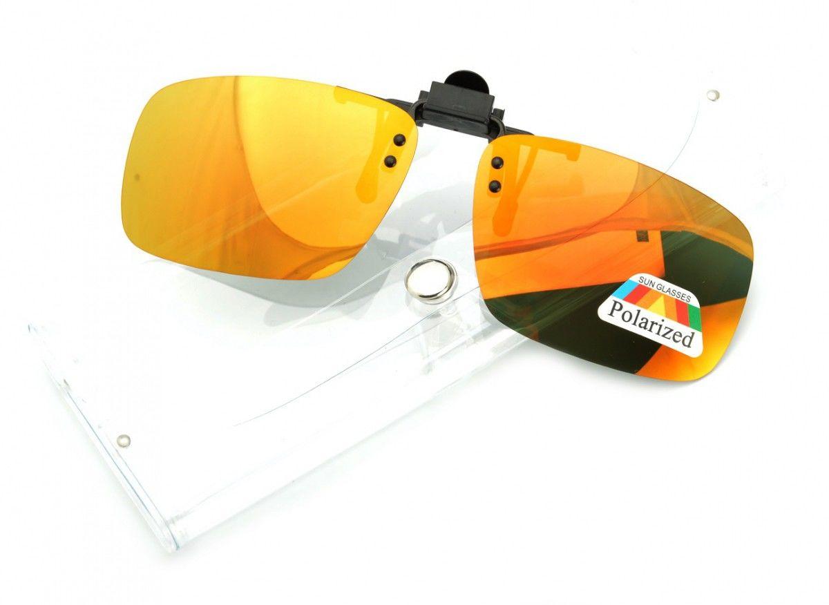 Nakładki lustrzane polaryzacyjne na okulary korekcyjne + ETUI - NA-163A