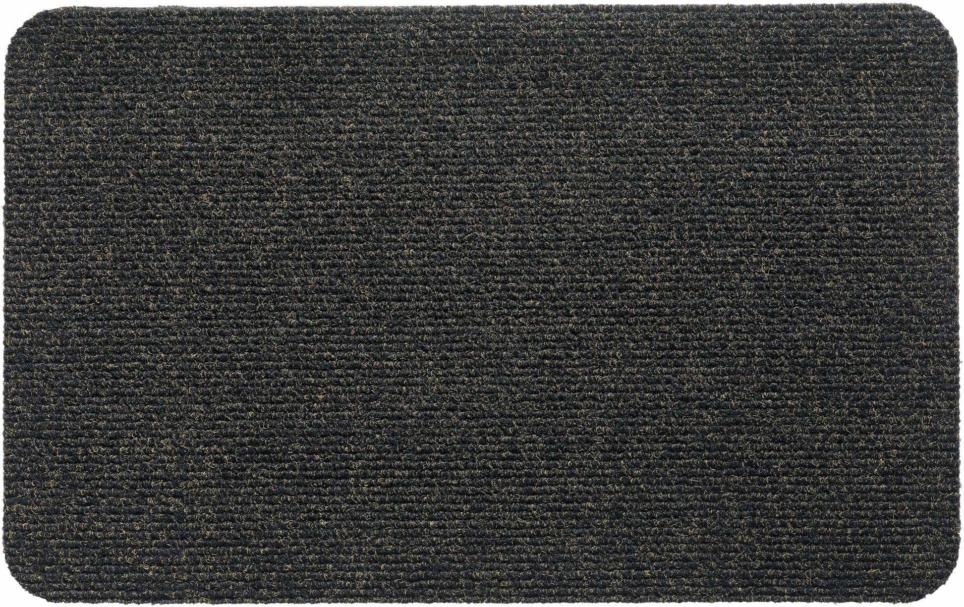 Wycieraczka Mega Rib, z polipropylenu, czarna, grafitowa, 50 x 80 cm