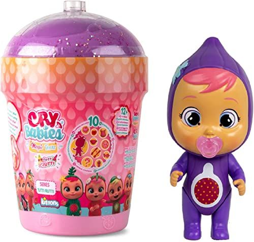 Cry Babies Magic Tears Tutti Frutti Smoothie Haus  mini lalki kolekcjonerskie z zapachem i prawdziwymi kultowymi łezkami; prezenty i lalki dla dziewczynek i chłopców od 3 lat