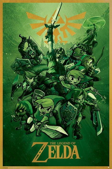 Plakat - The Legend of Zelda - Link