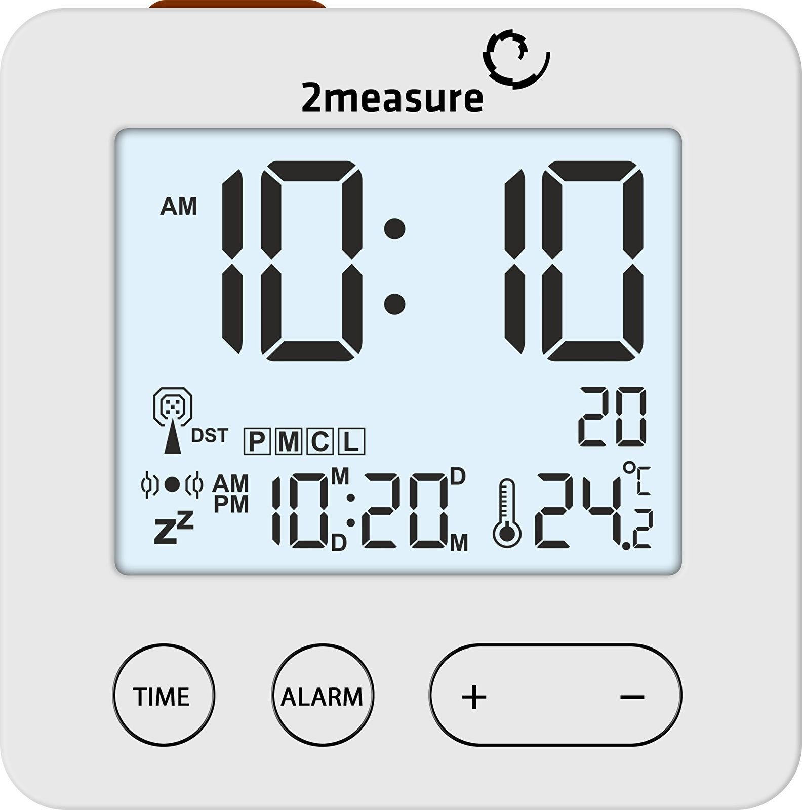 Stacja pogody z budzikiem - elektr., RCC,termometr