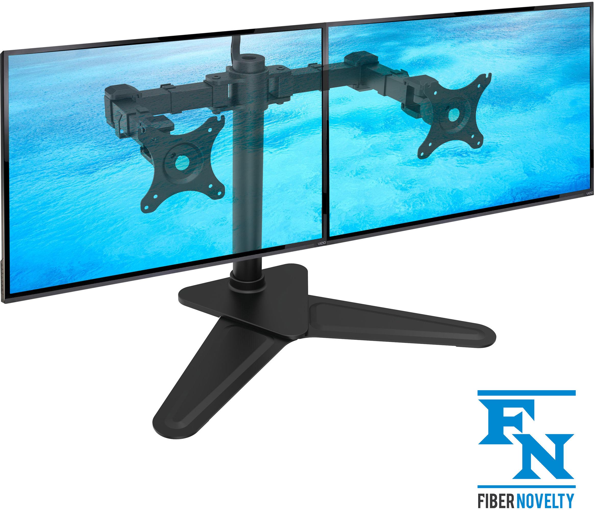 """NF22 - Solidny biurkowy stojak do dwóch monitorów 2x LCD, LED 10""""-30"""" Regulacja 3D"""