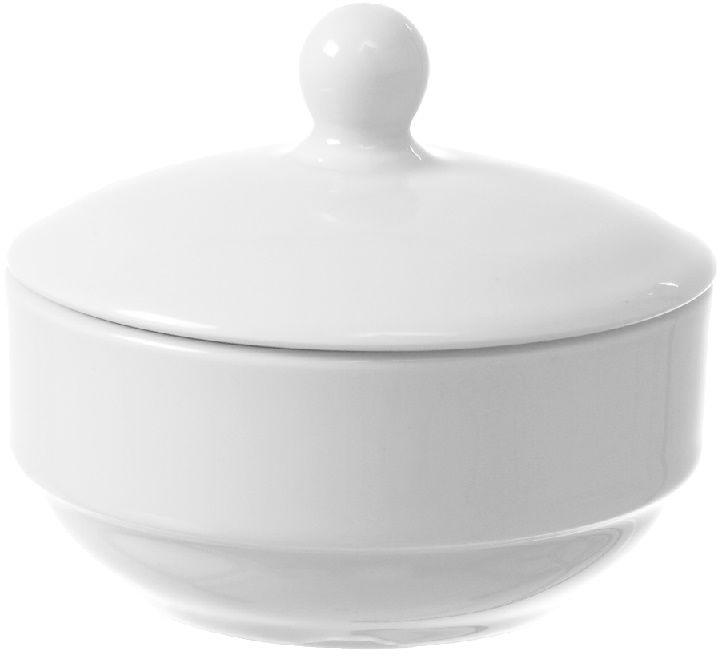 Cukiernica z pokrywką porcelanowa BIANCO