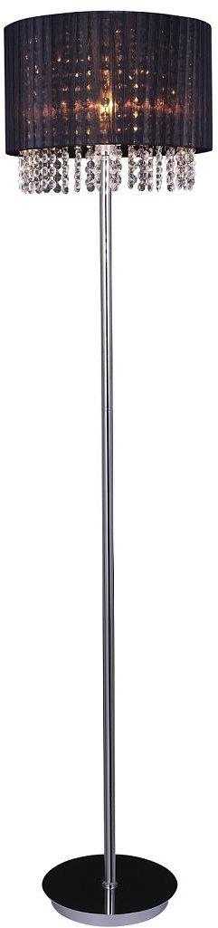 Italux lampa podłogowa Astra BK MLM1953/1 BK czarna z kryształami