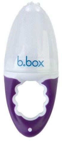 B.box - Gryzak z siatką na owoce fioletowy