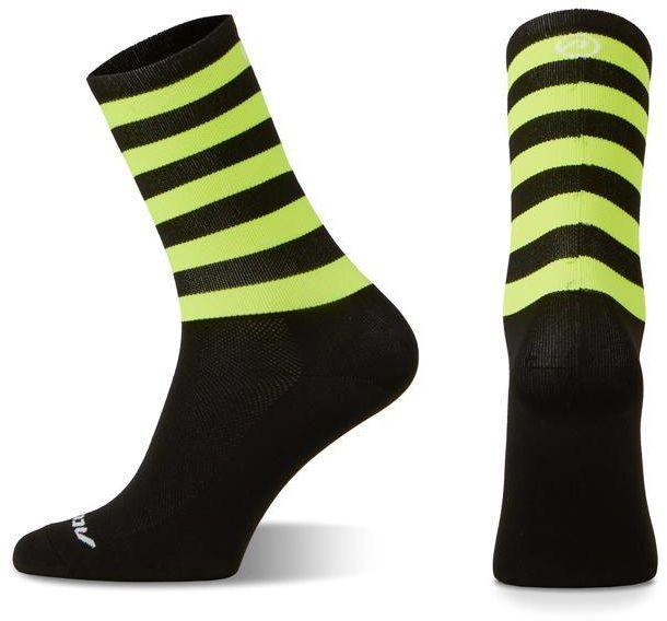 Skarpetki kolarskie Accent Stripe Long, czarno-żółte fluo M (39-41)