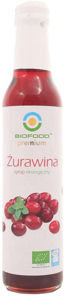 Syrop żurawina BIO - BioFood - 250ml