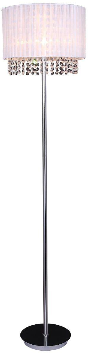 Italux lampa podłogowa Astra WH MLM1953/1 WH biała z kryształami