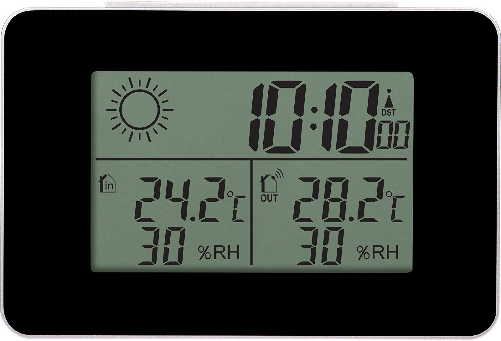 Stacja pogody RCC - termometr/higrometr z zegarem