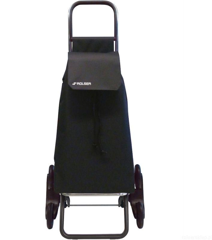 Wózek zakupowy do pokonywania schodów Rolser RD6 Saquet /czarny/