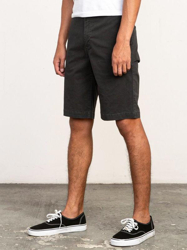 RVCA DAGGERS CHINO RVCA BLACK męskie spodenki jeansowe