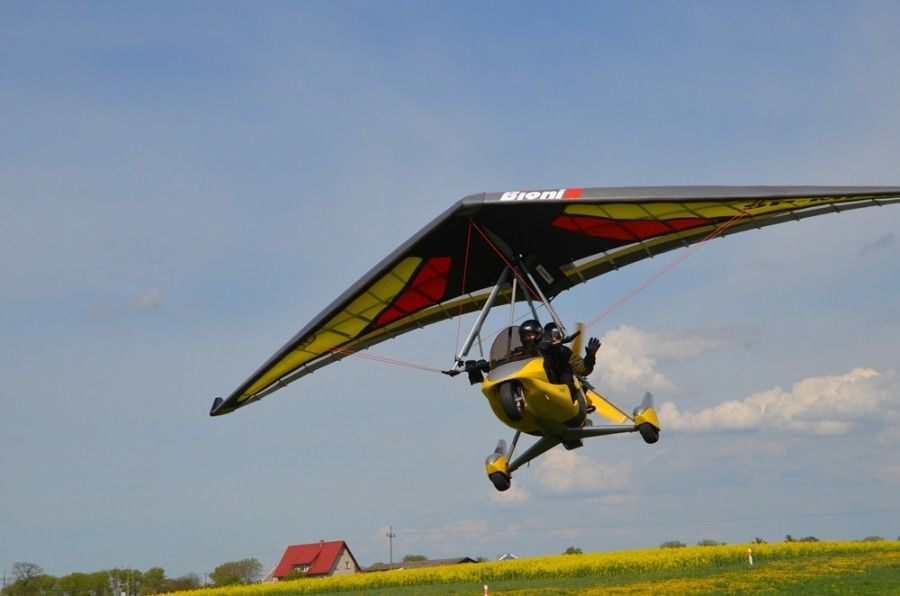 Lot motolotnią - Toruń - 20 minut