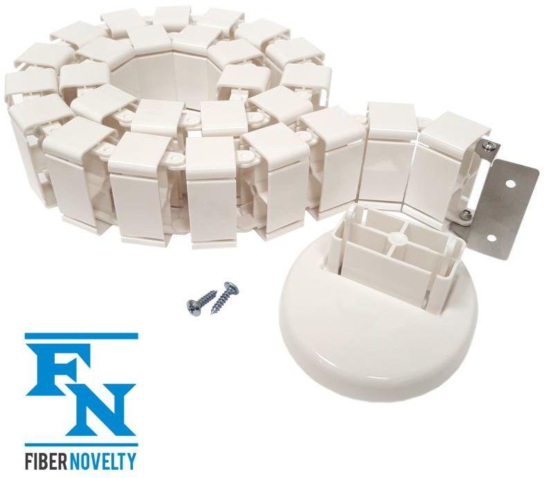 ErgoMask120W- pionowy kanał kablowy / maskownica kabli / organizer przewodów