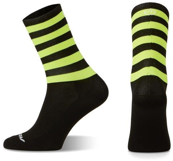 Skarpetki kolarskie Accent Stripe Long, czarno-żółte fluo XL (45-46)