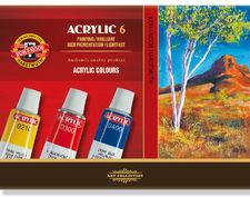 Koh i noor Farby akrylowe Acrylic 16ml 6kol