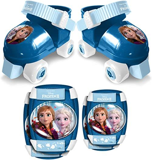 STAMP RN244035 Frozen II Anna, Elsa Rollshuhe-E/K ochraniacze kolan, niebieski, 22-27