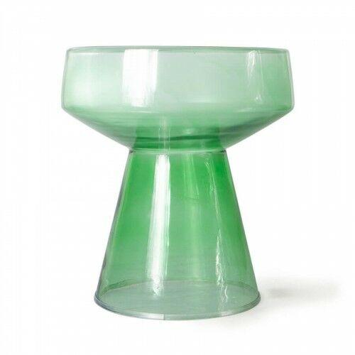 Szklany stolik kawowy zielony HK Living