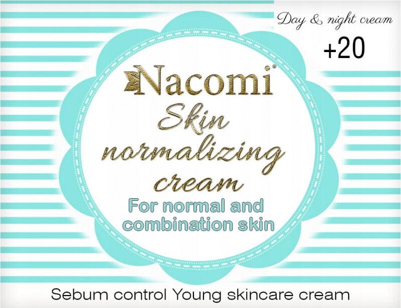 Nacomi - Skin Normalizing Cream - Normalizujący krem do twarzy na dzień i na noc - 20+