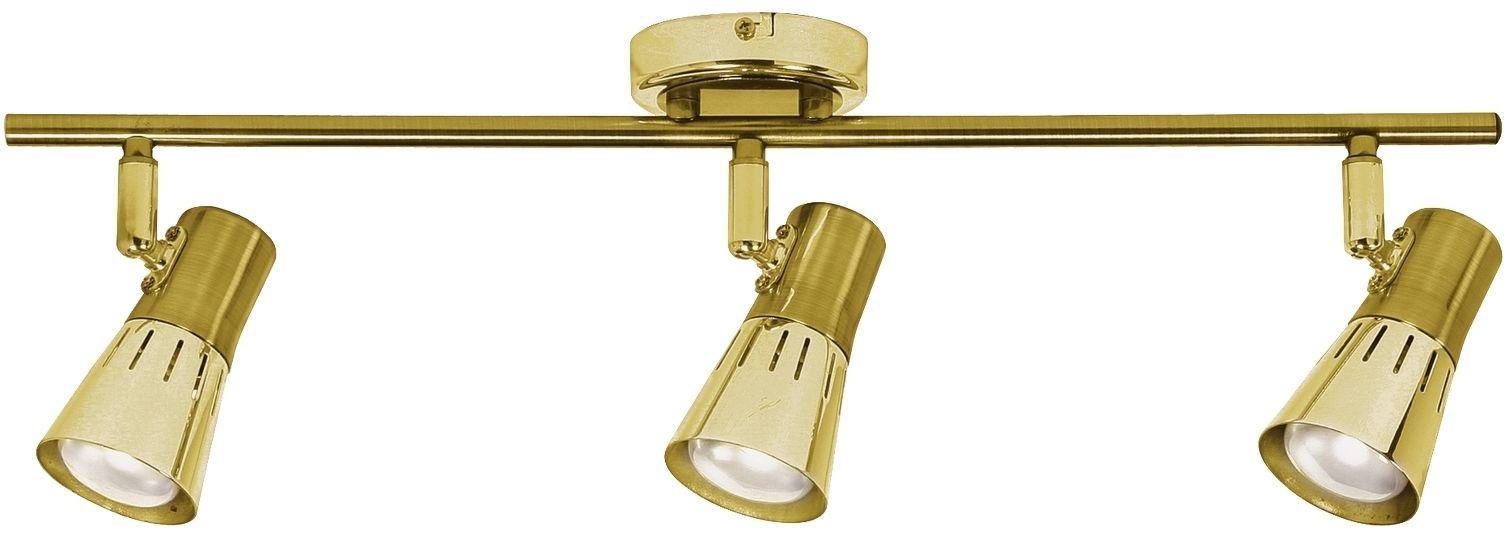Candellux ARENA 93-94769 listwa oświetleniowa złoty-patyna stalowy klosz 3x40W R50 E14 51cm
