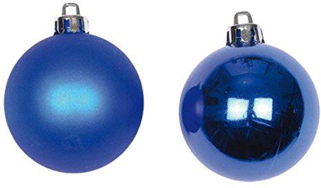 Zestaw 6 bombek uniwersalnych PVC średnica 6 cm królewski niebieski