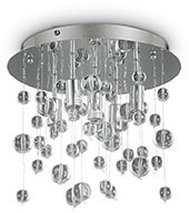 Plafon Neve PL5 094687 Ideal Lux kryształowa oprawa w nowoczesnym stylu