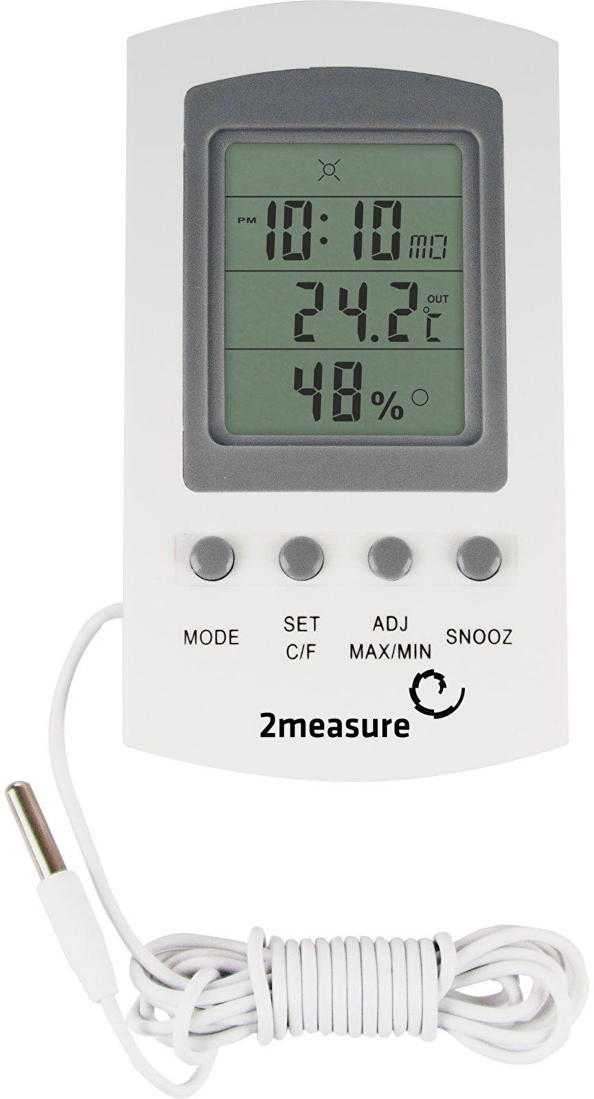 Stacja pogody - termometr/higrometr z zegarem
