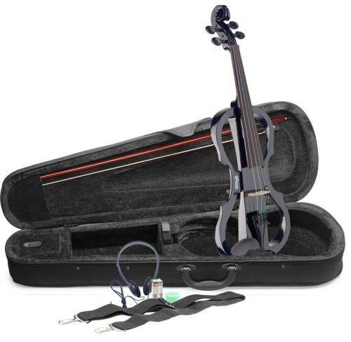 Stagg EVN X-4/4 BK ? zestaw skrzypce elektryczne z akcesoriami