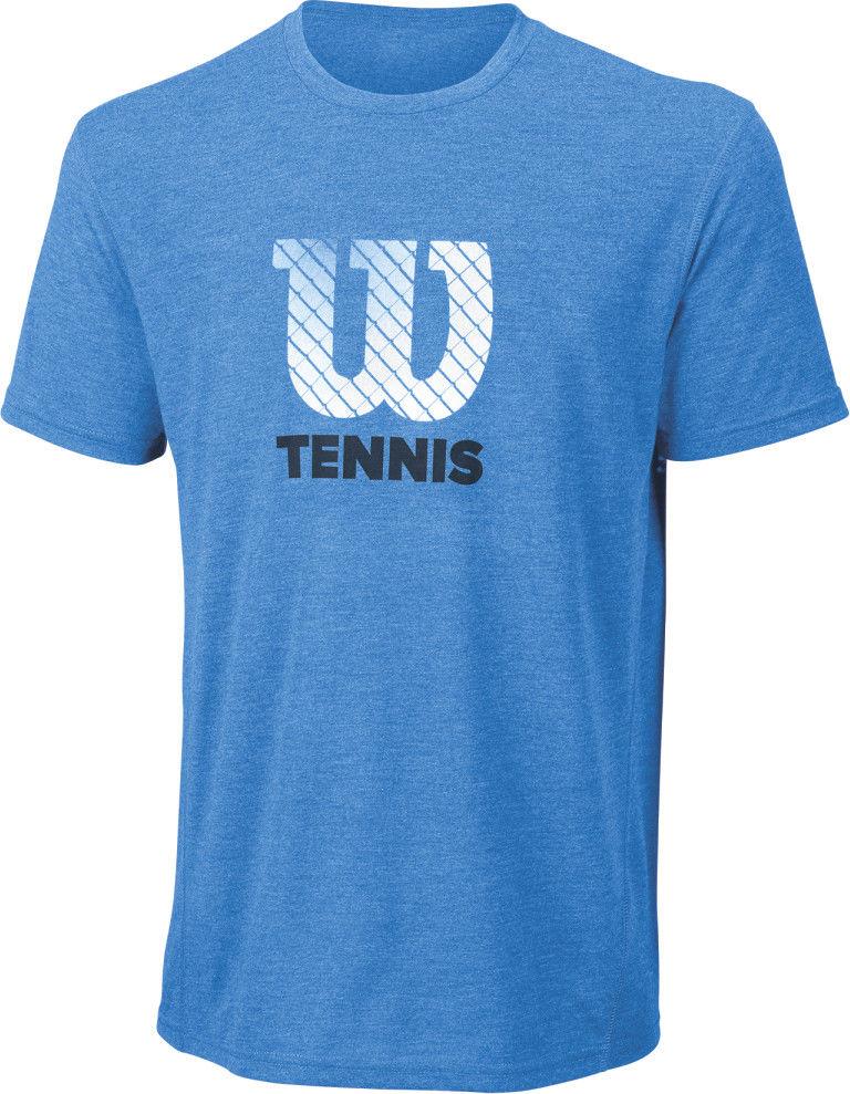 Wilson M Tennis Graphic Tech Tee - blue