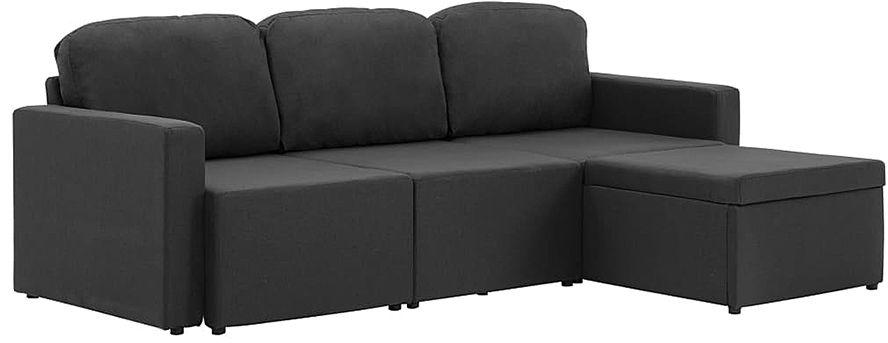Rozkładana sofa modułowa ciemnoszara tkanina - Lanpara 4Q