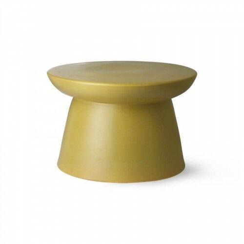 Oliwkowy gliniany stolik kawowy HK Living