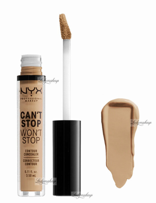 NYX Professional Makeup - CAN''T STOP WON''T STOP- CONCEALER - Korektor w płynie - NEUTRAL BUFF