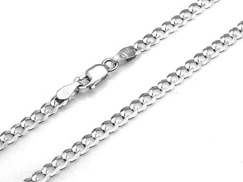 Srebrny łańcuszek 925 PANCERKA 50 cm 7,56g