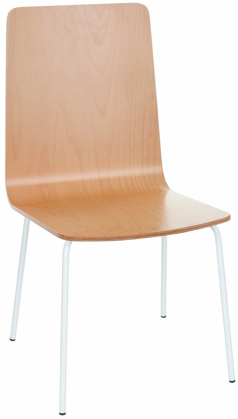 Krzesło Skin steel wood, drewniane, na metalowych nóżkach, proste, w stylu skandynawskim