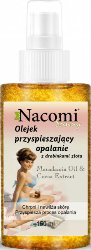 Nacomi - Sunny - Shimmering Tan Accelerating Oil - Olejek przyspieszający opalanie z drobinkami złota - 150ml