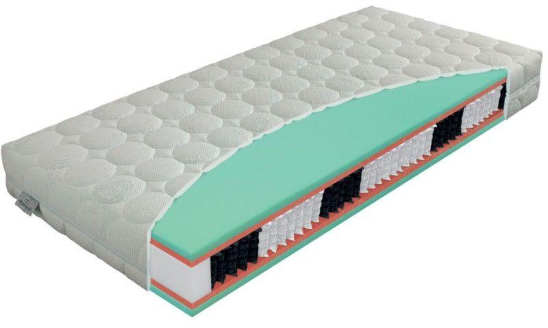 Materac ADMIRAL BIO-EX EXCLUSIVE MATERASSO kieszeniowo-piankowy : Rozmiar - 90x200, Twardość - H2, Pokrowce Materasso - SilverProtect