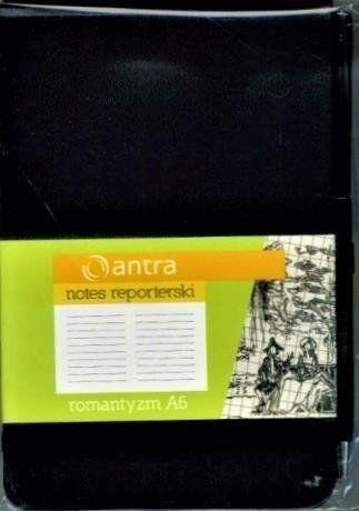Notes Reporterski A6 Linia Romantyzm Czarny ANTRA