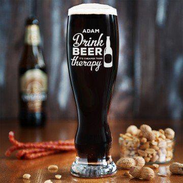 Therapy - Grawerowana Szklanka do piwa