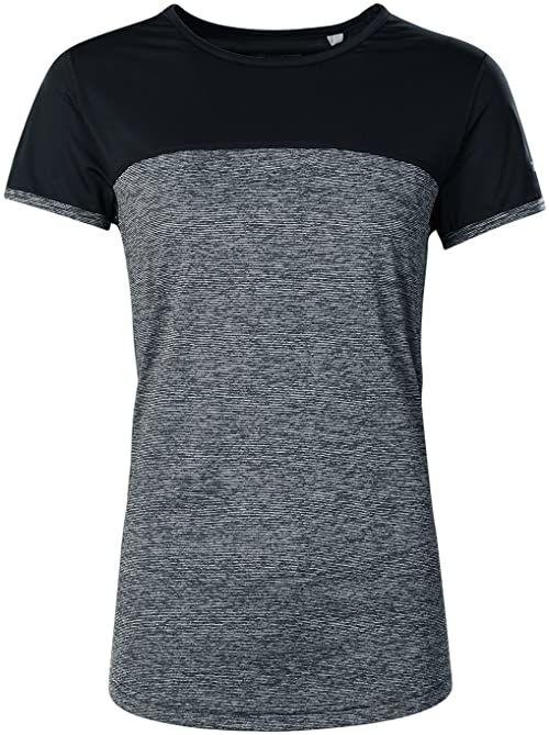berghaus Technique 2.0 t-shirt damski z krótkim rękawem szary Carbon Marl/Jet Black X-L